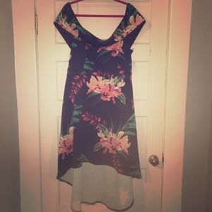 NWT Charlotte Russe plus high low dress